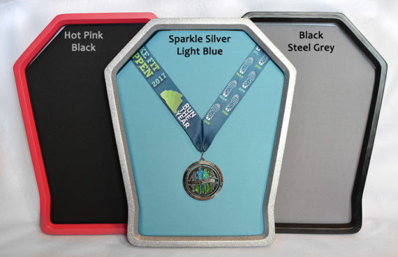 Versa Medal Display Frame Color Examples