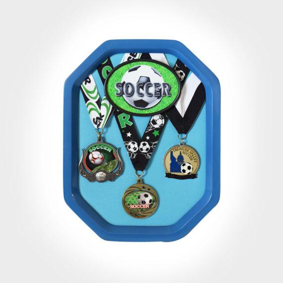 Royal Blue Rally Medal Display