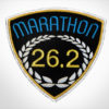 Marathon Patch Black & Medium Blue
