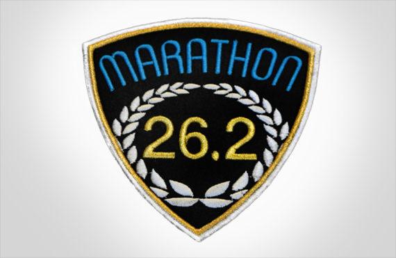 Marathon Patch Black & Medium Blue