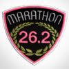 Embroidered Marathon Patch Black & Pink