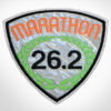 Embroidered Marathon Patch Silver & Orange