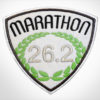 Embroidered Marathon Patch White & Black