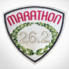 Embroidered Marathon Patch White & Magenta