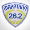 Embroidered Marathon Patch White & Medium Blue
