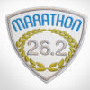 Embroidered Marathon Patch White, Medium Blue & Olive