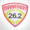 Embroidered Marathon Patch White & Medium Pink