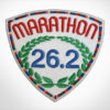 Embroidered Marathon Patch White & MultiColor