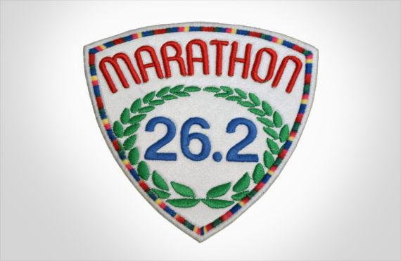 Embroidered Marathon Patch White & MultiColor