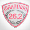 Embroidered Marathon Patch White & Pink