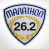 Embroidered Marathon Patch White & Royal Blue