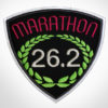Embroidered Marathon Patch Black & Magenta