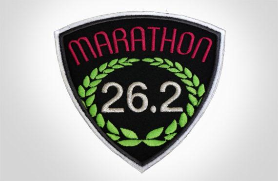 Embroidered Marathon Patch Black & Magenta