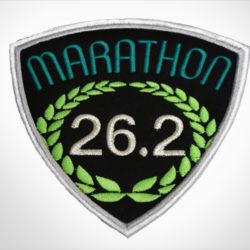 Embroidered Marathon Patch Black & Teal