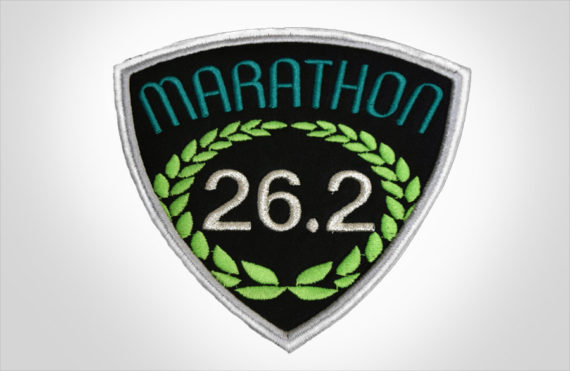 Embroidered Marathon Patch Black & Teal