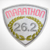 Embroidered Marathon Patch White, Pink & Olive