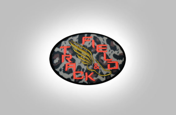 Track&Field Patch-Leopard-Coral