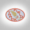 Track & Field Patch- LightGrey with orange stitching