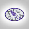 Track & Field Patch- Light grey with purple stitching