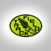 Track & Field Patch- Neon Green with black stitching