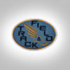 Track & Field Patch- Slate with GoldOrange stitching