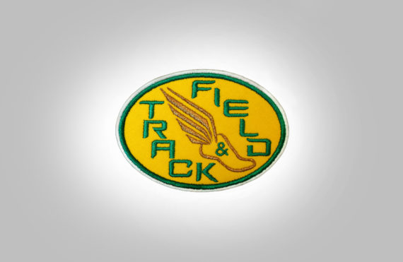 Track & Field Patch Yellow with Green stitching