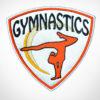 Gymnastics Girl Patch Orange