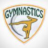 Gymnastics Girl Patch Yellow