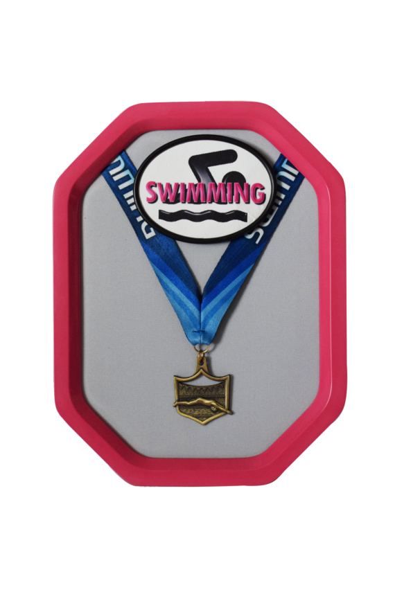 Pink Swimming Rally Medal Display Frame