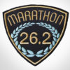 Embroidered Marathon Patch Black & Gold