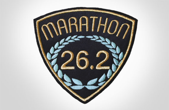 Embroidered Marathon Patch Black & Gold