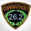 Embroidered Marathon Patch Black & Golden Orange