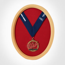 Oval Medal Display Frame