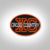 Cross Country Patch - Black Orange