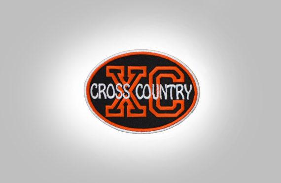 Cross Country Patch - Black Orange