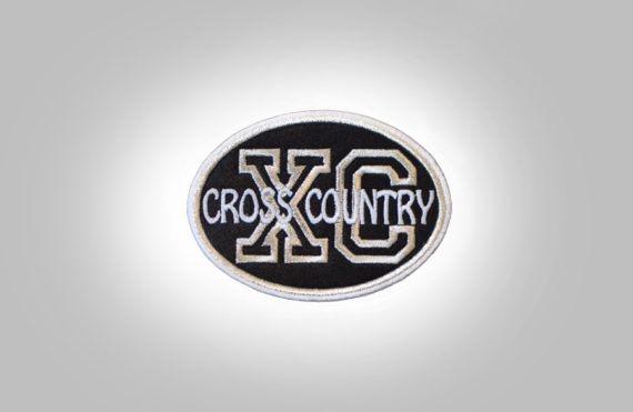 Cross Country Patch - Black Silver
