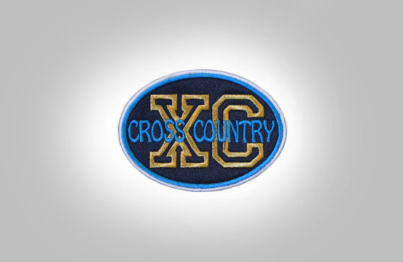 Cross Country Patch - Black Teal Blue