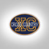 Cross Country Patch - Dark Blue-Dark Mustard