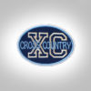 Cross Country Patch - Dark Blue Light Bue-Silver
