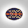 Cross Country Patch - Dark Blue Orange