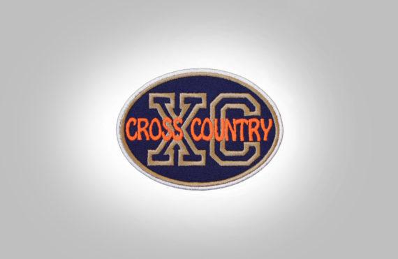 Cross Country Patch - Dark Blue Orange