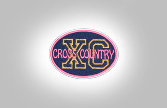 Cross Country Patch - Dark Blue Pink