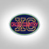 Cross Country Patch - Dark Blue Neon
