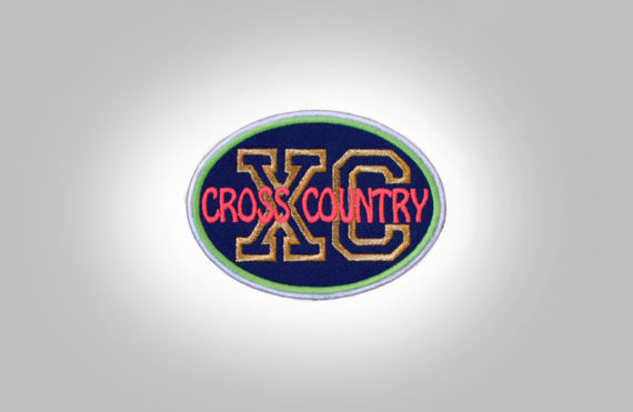 Cross Country Patch - Dark Blue Neon