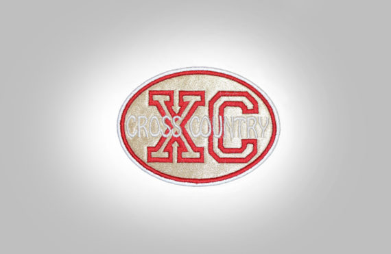 Cross Country Patch - Gold Red