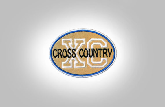 Cross Country Patch - Gold Royal Bue