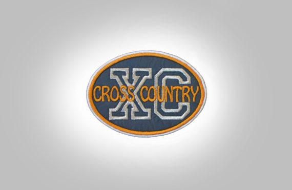 Cross Country Patch - Grey Burnt Orange