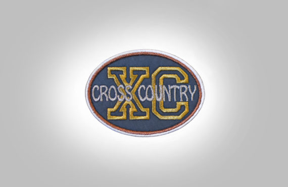 Cross Country Patch - Grey Gold Silver Bronze