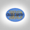 Cross Country Patch - Light Blue Black