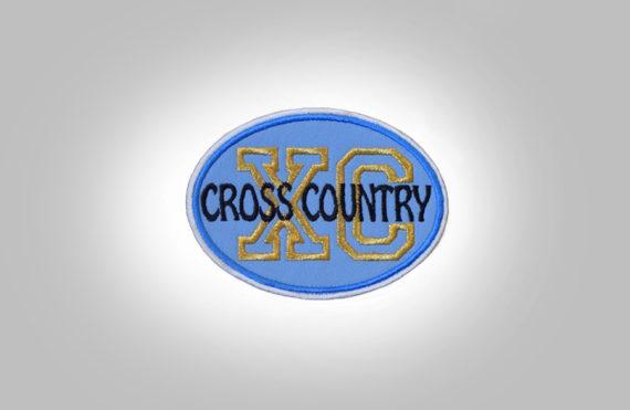 Cross Country Patch - Light Blue Black